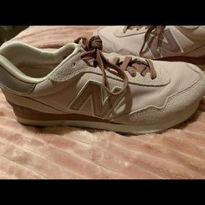 Rose gold and pink new balances shoes